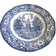 One Staffordshire Liberty Blue Dinner Plate (2 available)