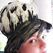 SALE PENDING Fabulous and Exotic Vintage Christian Dior Feather Hat