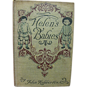 1908, Helen's Babies by John Habberton, Illustrated by Tod Twiggins