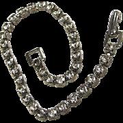 SALE Pretty Vintage Rhinestone Line Tennis Bracelet