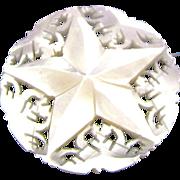 SALE Vintage Carved Mother-of-Pearl Star of David from Bethlehem