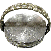 SOLD For H March - Vintage Hand Wrought Aluminum Coaster Set by Rodney Kent Silver Company