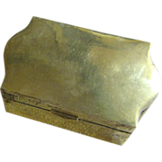 Nice Vintage Indian Brass Box with Hinged Lid