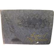 "Circa 1935 ""Signs of my Friends"" Horoscope Autograph Book"