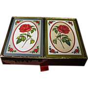 "Vintage Congress Playing Cards ""Red Rose"" Double Deck"