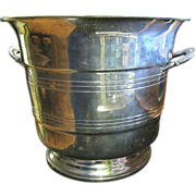 Large Mid Century Pewter Champagne Bucket by B&M Pewter of Norway‏