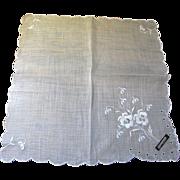 SALE The Finest Swiss Batiste Wedding Hankie, Still with Original Label