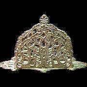 Indian Cast Brass Filigree Letter or Napkin Rack