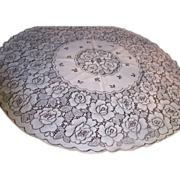 Pretty Vintage Polyester Lace Circular Tablecloth