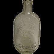 SALE PENDING 1860-1880's, South Carolina Flask with SC Dispensary & SCD monogram