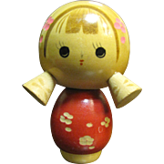 Super Cute Vintage Japanese Kokeshi Doll, Pigtails!