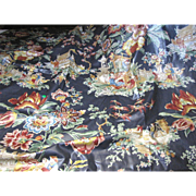 "54"" Remnant of Chinoiserie Glazed Cotton Screen Printed Chintz by Kaufmann"