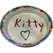 "SALE Hand Made Latham's Seagrove Pottery ""Kitty"" Cat Bowl"