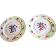 Pair of Noritake Dinner Plates in the Queen Anne Pattern