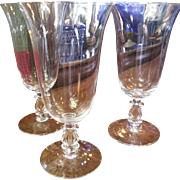 THREE Cambridge Crystal Regency/ Stradivari Ice Tea Glasses