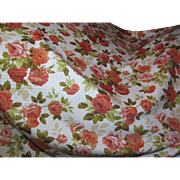Yardage - Beautiful Rose Quilt Textured Screen Printed Cotton, up to 19 yards available