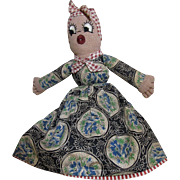 Great 1950's Hand Made Topsy Turvey Doll, Super Dresses, Expressive Faces!