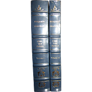 Benjamin Franklin, Carl Van Doren, Vol. I & 2, Special Edition Leather & Gold Gilt, Like New .