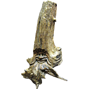 "SALE Large 14"" Primitive Carved Face Wooden Branch Sculpture"