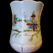 Victorian Hand Painted Porcelain Shaving Mug or Toothbrush Holder