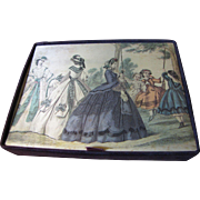 Beautiful Victorian Lady Design Lingerie or Hankie Box