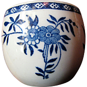 """Sterling China Co, USA Restaurant Ware Blue Foral 3"""" Custard Cup, Blue Town Pattern"""