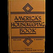 1943, America's HouseKeeping Book Compiled by N.Y. Herald Tribune Home Institute HB