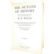 1949, The Outline of History Volumes I by H.G. Wells, Published by Garden City ...
