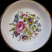 Vintage Royal Worcester Floral Porcelain Trinket Tray, Pretty!