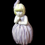"Sweet Royal Worcester ""Hush"" Porcelain Candle Snuffer"