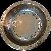 SALE Large Antique Primitive Hand Wrought Moroccan Copper Bowl, Dovetail Joints