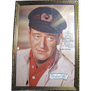 """John Wayne 5"""" by 7"""" Picture in Swivel Easel by Decorative Arts"""