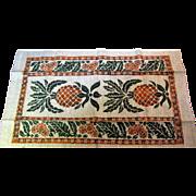 Pristine Pineapple Design Pure Linen Tea Towel