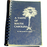 SOLD A Taste of South Carolina by The Palmetto Cabinet 1986