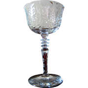 Libbey Rock Sharpe #2010-2 Polished Cut Wine Glass (up to 2 available)