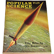 May 1946 Popular Science Magazine- Rocket Cover, XB-36 Cover Painting Ray Pioch Fifty Miles Up