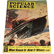 Popular Science Magazine September 1945, Cover by Frederic Tellander - Amphibs for Invading Ja