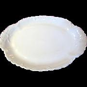 Large Antique Embossed White Porcelain Platter by Haviland Limoges, Frances