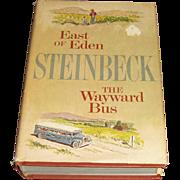 East Of Eden and The Wayward Bus by John Steinbeck HCDJ. c. 1947, 1952