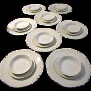 SALE Antique White Haviland Limoges France Dinner Service for 8 (24 pieces)