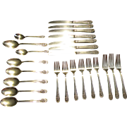 SALE 24 Pieces of Rogers 1953 Jubilee Pattern Silver Plate Flatware