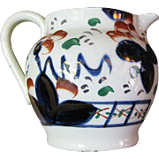 Mid 19th Century Gaston Welsh Gaudy Oyster Pattern Pitcher
