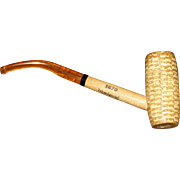 "South Carolina's ""Tricentennial"" Missouri Meerschaum Corncob Smoking Pipe w/ Amber S"