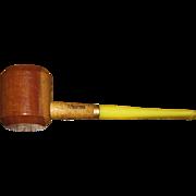 "Vintage Missouri Meerschaum ""Ozark Mountain"" Hardwood Maple Smoking Pipe w/ Straight"