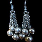 SALE Gorgeous Large Ball Tassel Vintage Chandelier Earrings