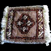 SALE Doll Size Oriental Wool Rug, Vintage Salesman's Sample No 1