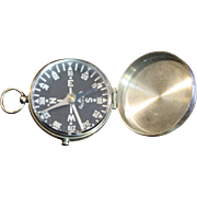 Vintage German Pocket Compass with Locking Lever