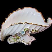 "Huge 16"" Capodimonte Rococco Style Shell Form Vase"