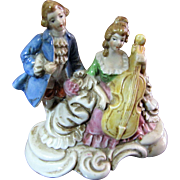 Colonial Musical Couple Figurine by Maruyama of Occupied Japan