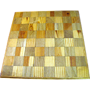 Sturdy Rustic Hand Made Pine Chess or Checkers Board
